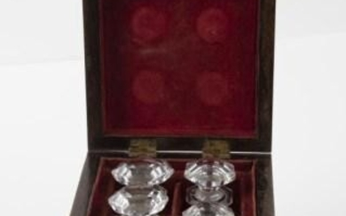 19th C. French Perfume Box with Bottles