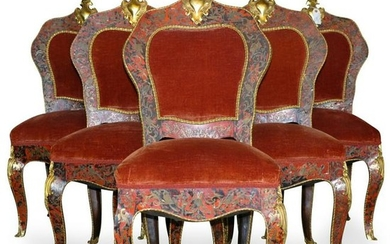 19th Century Boulle Dining Chairs