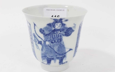 19th century Japanese blue and white porcelain wine cup