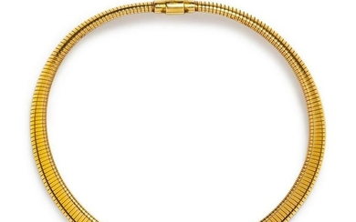A 14 Karat Yellow Gold Tubagas Necklace, Forstner,