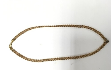 A 9ct gold rope design necklace 6.9g.