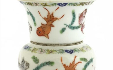 A Chinese famille rose cup and bowl
