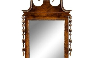 A Chippendale Style Mahogany Mirror
