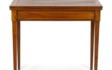 A French Provincial Fruitwood Flip-Top Table