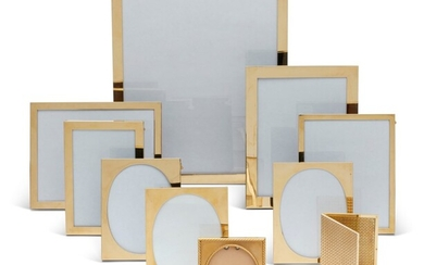 A GROUP OF TEN GOLD PICTURE FRAMES, BY CARTIER, 20TH CENTURY
