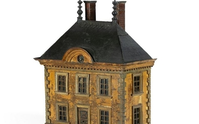 A Georgian style painted house storage container