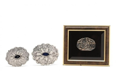 A Grouping of Sterling Silver Judaica
