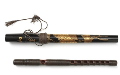 A Japanese instrument, wood and lacquer, Meiji (1868-1912).