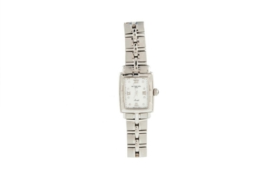 A LADY'S RAYMOND WEIL WRIST WATCH, diamond and mother of pea...