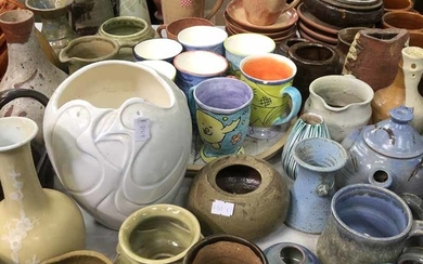 A LARGE COLLECTION OF POTTERY WARES