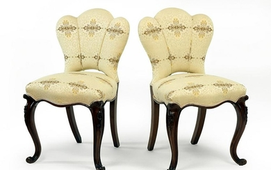 A Pair of victorian Upholstered Chairs.