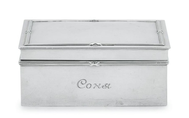 A Russian Silver Table-Top Cigar Box