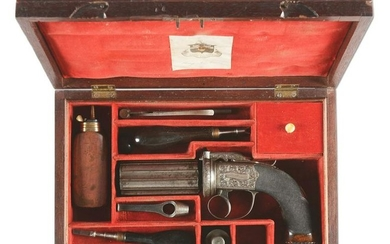 (A) SCARCE CASED IRISH PERCUSSION PEPPERBOX BY COLGAN