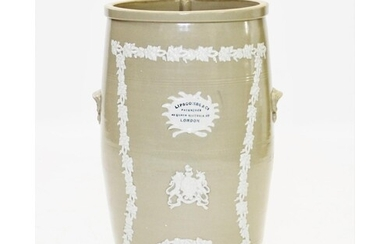A Victorian Lipscombe & Co stoneware water filter, 19th cent...