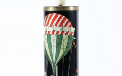 """A c1950s Fornasetti """"Palloni"""" Lamp Base With Hot Air Balloon Design (H45.5cm)"""