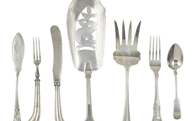 A collection of Scottish flatware
