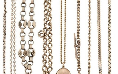 A group of jewellery comprising: a 9ct...