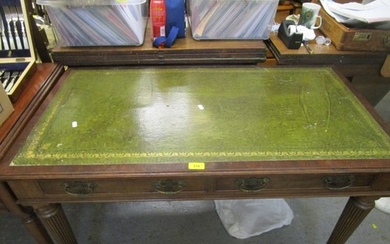 A late 19th century Maple & Co mahogany writing table with a...