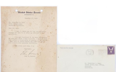 A signed John F. Kennedy letter.