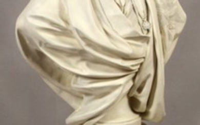 AFTER HOUDON LOUIS XVI BUST AND PEDESTAL 39 29