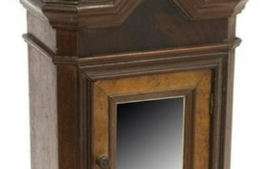 ANTIQUE FRENCH MINIATURE DOLL'S MIRRORED ARMOIRE