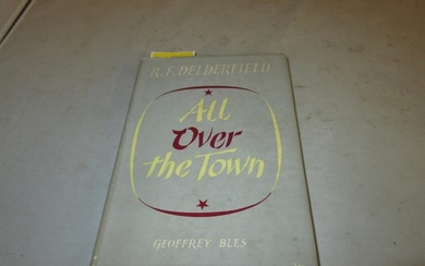 """""""All over the town"""" by R F Delderfield. Hardback bound in ye..."""