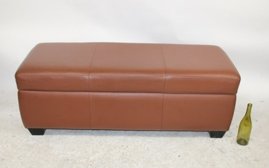 American leather lift top storage bench