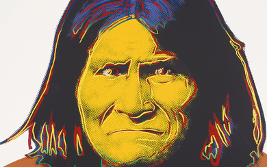 Andy Warhol, Geronimo, from Cowboys and Indians