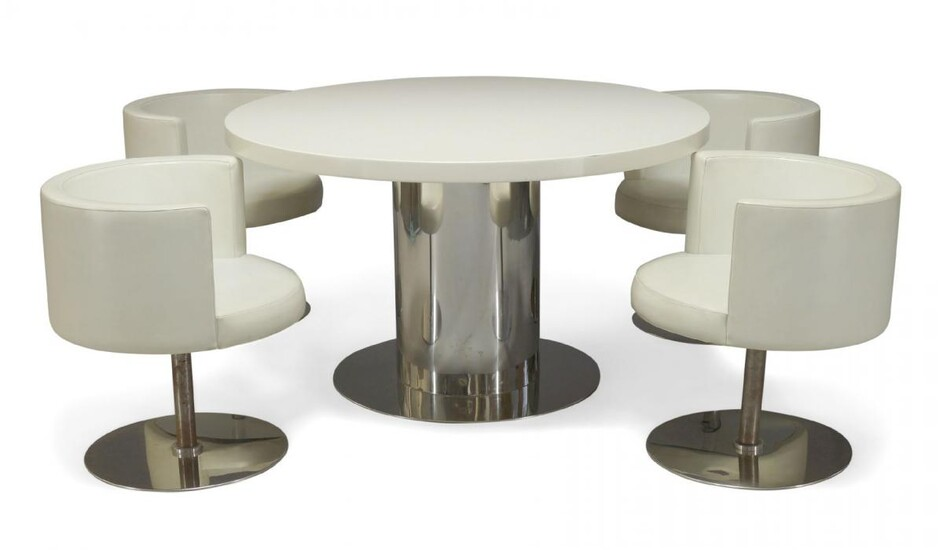 Antonia Astori (b.1940), a 'Cidonio' Dining table and four chairs...