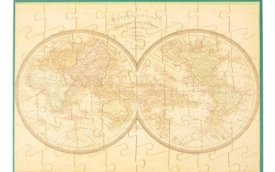 Atlas of 8 jigsaw maps circa 1840 with box