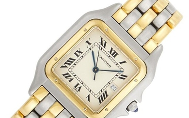 Cartier Stainless Steel and Gold Five Row 'Panthère' Wristwatch, Ref. 00314