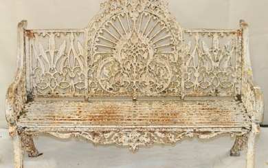 Cast iron bench by Pierce of Wexford.