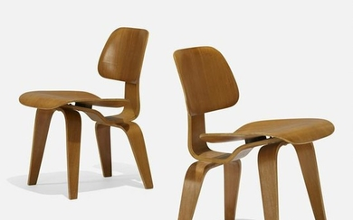 Charles and Ray Eames, early DCWs, pair