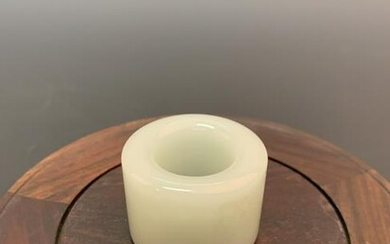 Chinese Hetian White Jade Ring