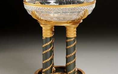Continental Empire crystal and bronze centerpiece