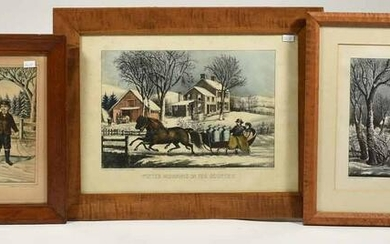 Currier & Ives lithographs, winter scenes