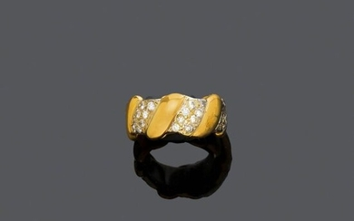DIAMOND AND GOLD RING, BY WEBB.