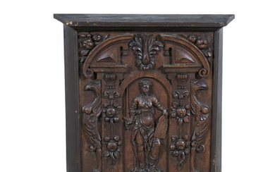 Description AS CONTINENTAL CARVED TIMBER WALL PANEL