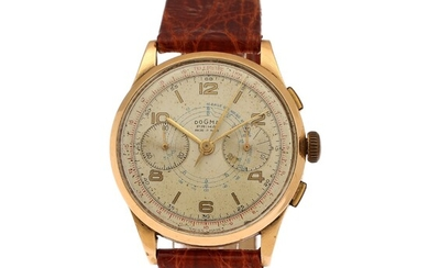 NOT SOLD. Dogma: A gentleman's wristwatch of 18k gold. Model Prima, case back no. 782418....