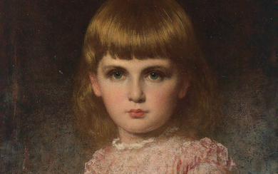 EASTMAN JOHNSON Portrait of May Valentina Stern Harlow (Narc