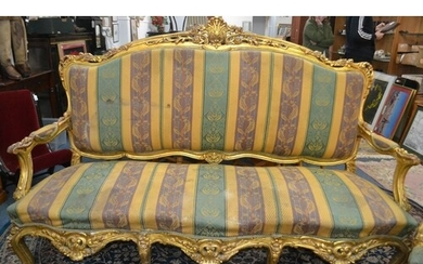 EXQUISITE Georgian inspired three seater couch with stunning...