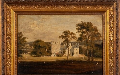 English School, 19/20th Century- Country house and parkland...