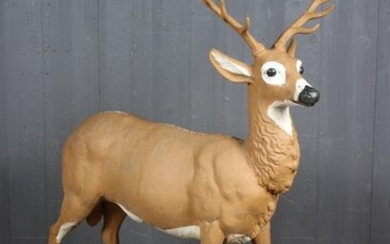 Fiske Style Painted Cast Iron Stag