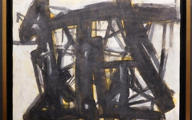 Franz Kline Attr. : Abstract Composition in Black and Yellow