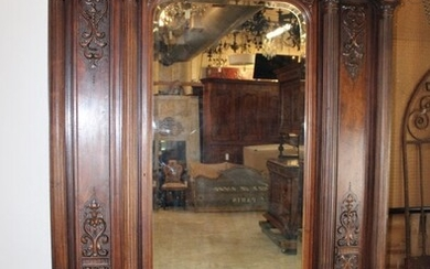 French walnut armoire with lion head