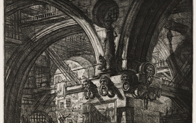 GIOVANNI B PIRANESI Three etchings with engraving from Carce