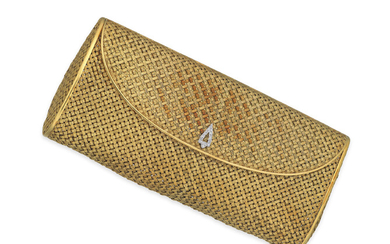 GOLD AND DIAMOND EVENING BAG, KUTCHINSKY