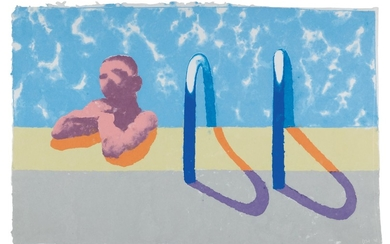 GREGORY IN THE POOL (PAPER POOL 4), David Hockney