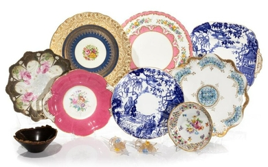 GROUP OF ASSORTED PORCELAIN DISHES