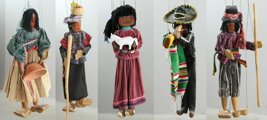 Group of Large Marionettes